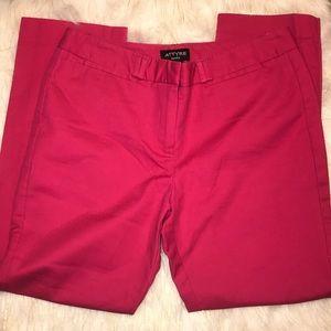 hot pink capri crop pants 8P